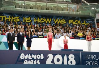 Winners of Youth Olympic Games Qualifying Competition in Artistic Gymnastics awarded in Baku (PHOTO)
