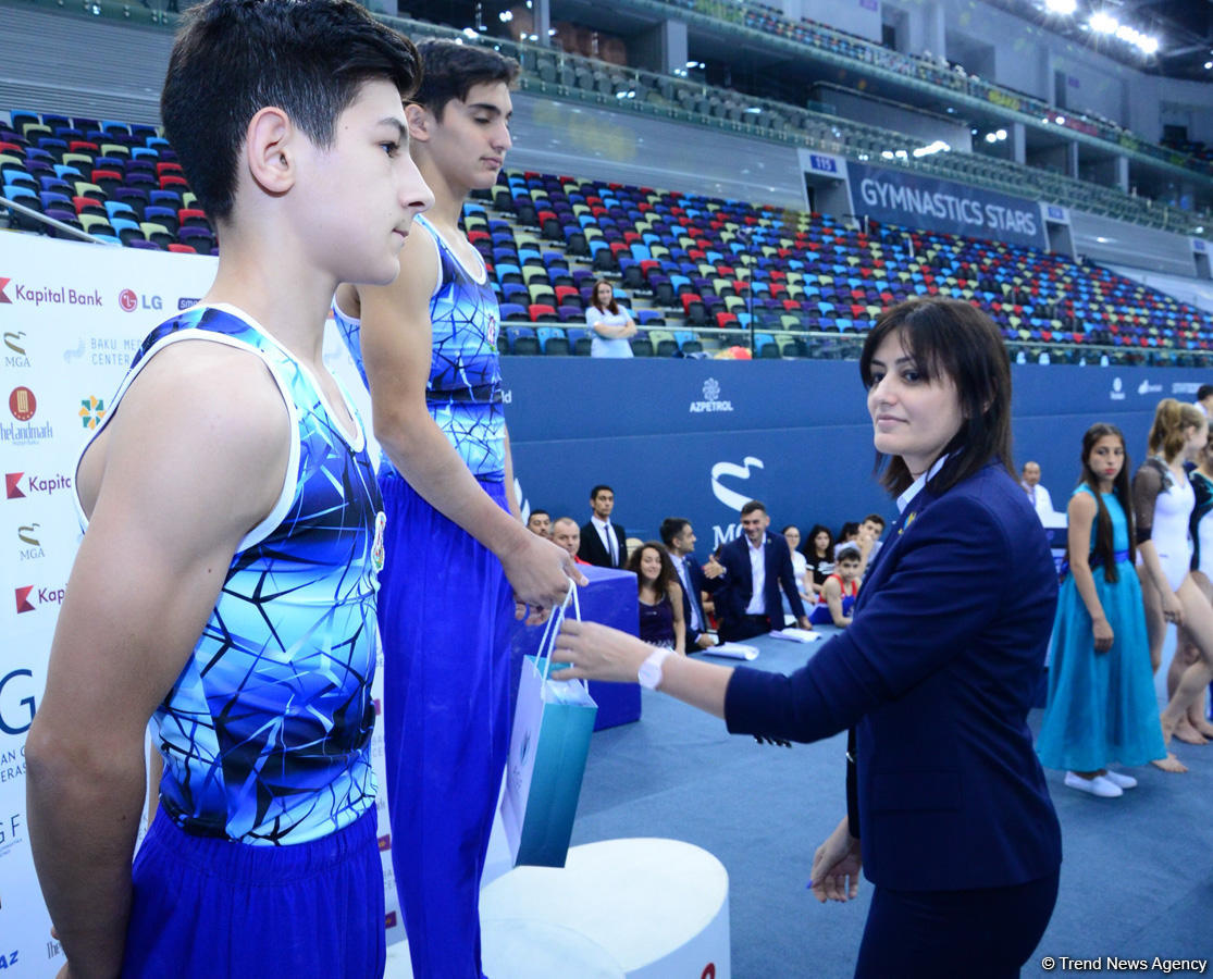 Winners of men's and women's gymnastics championships awarded in Baku (PHOTO)