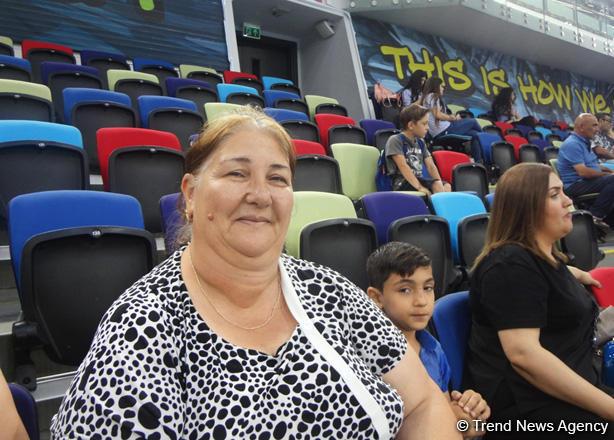 В Национальной арене гимнастики в Баку организация соревнований всегда отличная – зрительница