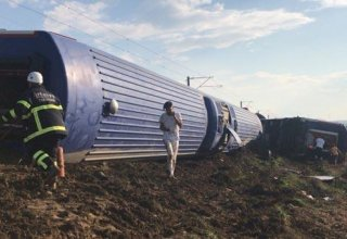 High-speed train derails in Turkey