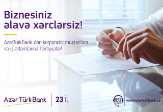 Azer Turk Bank offers free salary cards to corporate clients