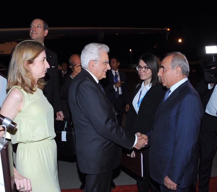 Italian president arrives in Azerbaijan on official visit (PHOTO) - Gallery Image