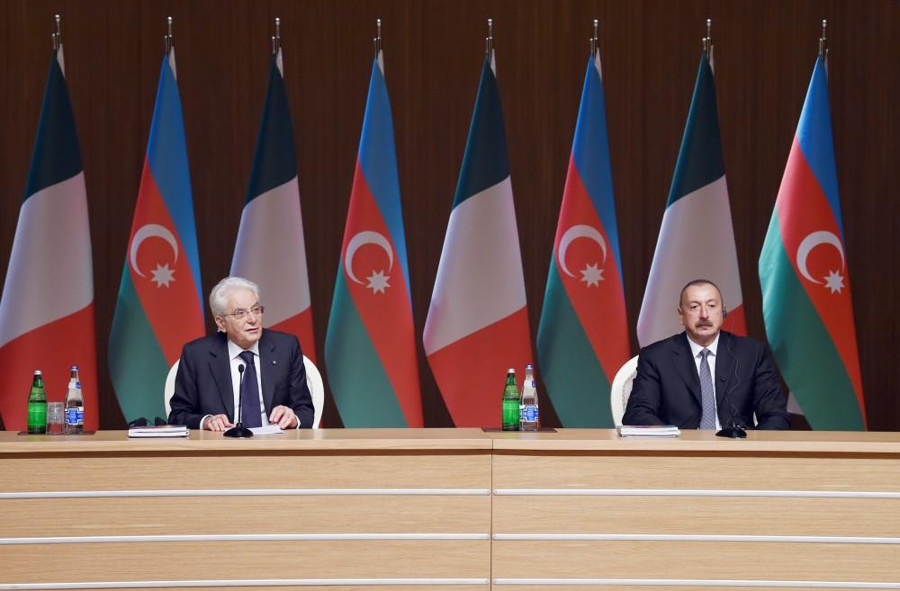 Azerbaijani, Italian presidents attend business forum in Baku (PHOTO) - Gallery Image