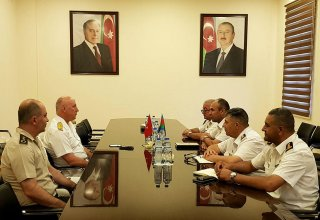 Meeting of delegations of Naval Forces of Azerbaijan and Turkey held in Baku (PHOTO)