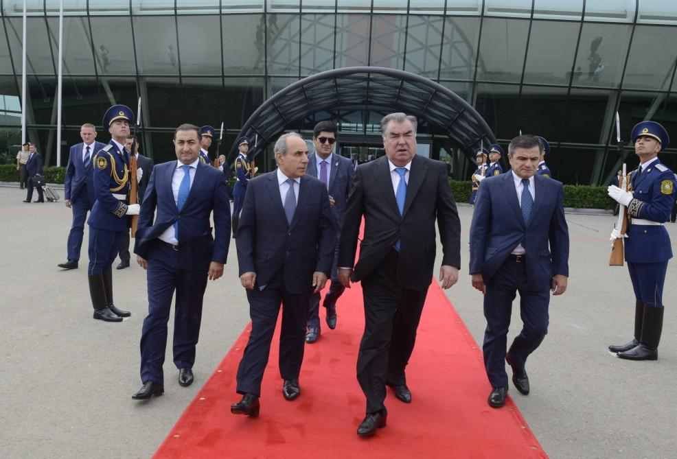 Tajik President ends official visit to Azerbaijan (PHOTO) - Gallery Image