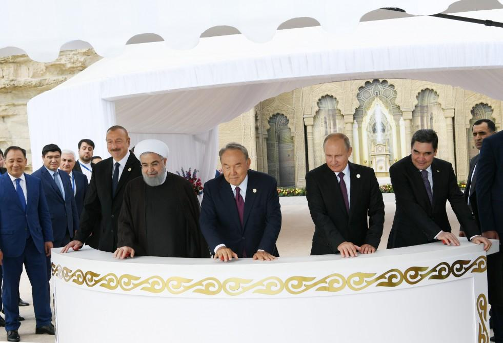 Heads of state attended ceremony to release sturgeons into Caspian Sea