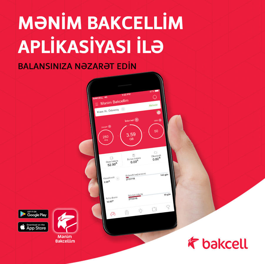 """""""My Bakcell"""" – manage your number's balance, enjoy customer care directly from your smartphone (PHOTO) - Gallery Image"""