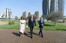 President Aliyev attends opening of sports, amusement park in Khatai district of Baku (PHOTO) - Gallery Thumbnail
