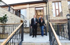 President Ilham Aliyev, first lady Mehriban Aliyeva attend opening of vine-growing and wine-making complex of Shirvan wines LLC in Shamakhi district (PHOTO) - Gallery Thumbnail