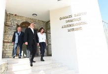 Azerbaijani president, first lady attend opening of Damirchi Archaeology Museum in Shamakhi district (PHOTO) - Gallery Thumbnail