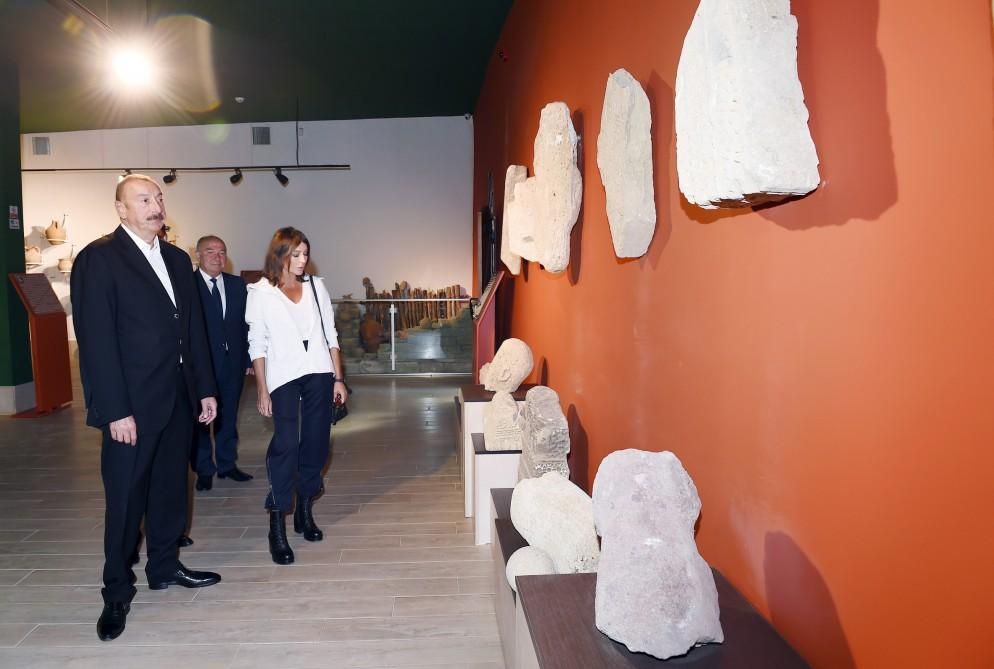Azerbaijani president, first lady attend opening of Damirchi Archaeology Museum in Shamakhi district (PHOTO)