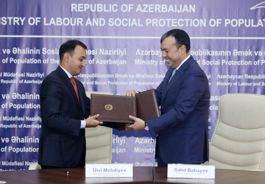 Azerbaijan's labor ministry, state agency ink co-op memo (PHOTO) - Gallery Image