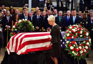 Washington lauds McCain as one of America's 'bravest souls,' Trump absent
