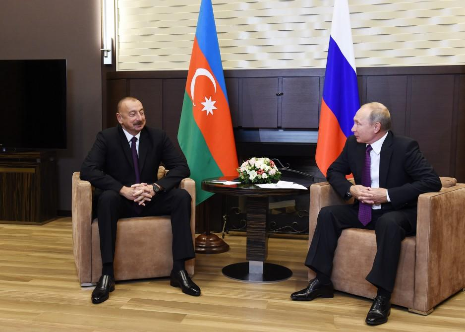 President Aliyev: Azerbaijan-Russia relations developing fully and very effectively