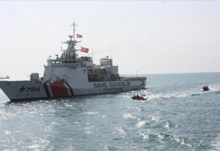 Turkish coast guard detains about 40 illegal immigrants