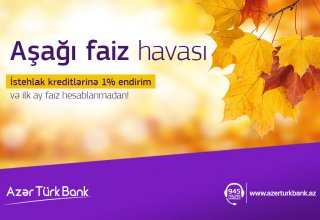 """Azer Turk Bank launches """"Low interest weather"""" campaign"""