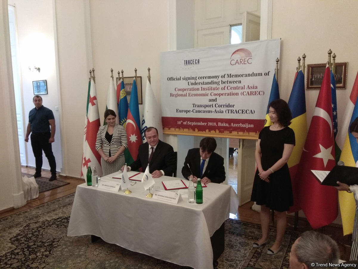 TRACECA, CAREC agree to cooperate (PHOTO) - Gallery Image