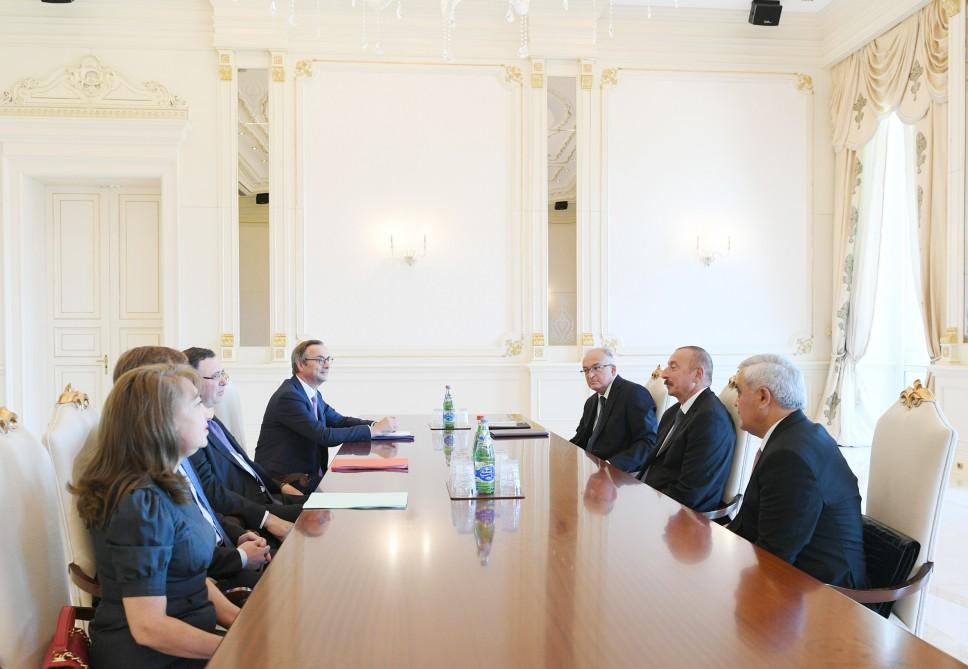 President Ilham Aliyev receives Total CEO