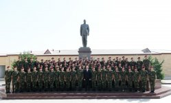 President Ilham Aliyev, First Lady Mehriban Aliyeva attend oath taking ceremony for young soldiers at State Security Service (PHOTO) - Gallery Thumbnail