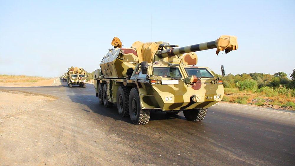 Привлеченные к учениям войска Азербайджана занимают районы сосредоточения (ФОТО/ВИДЕО) - Gallery Image