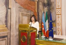 First VP Mehriban Aliyeva attends conference on centennial of ADR and relations of strategic partnership between Azerbaijan, Italy (PHOTO) - Gallery Thumbnail