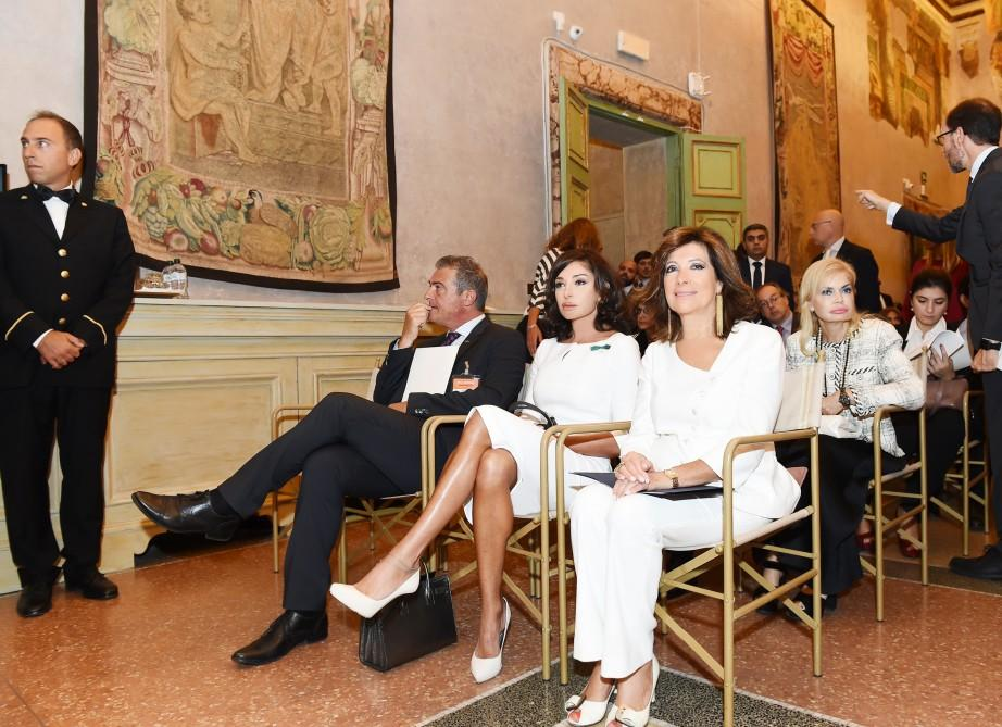 First VP Mehriban Aliyeva attends conference on centennial of ADR and relations of strategic partnership between Azerbaijan, Italy (PHOTO) - Gallery Image