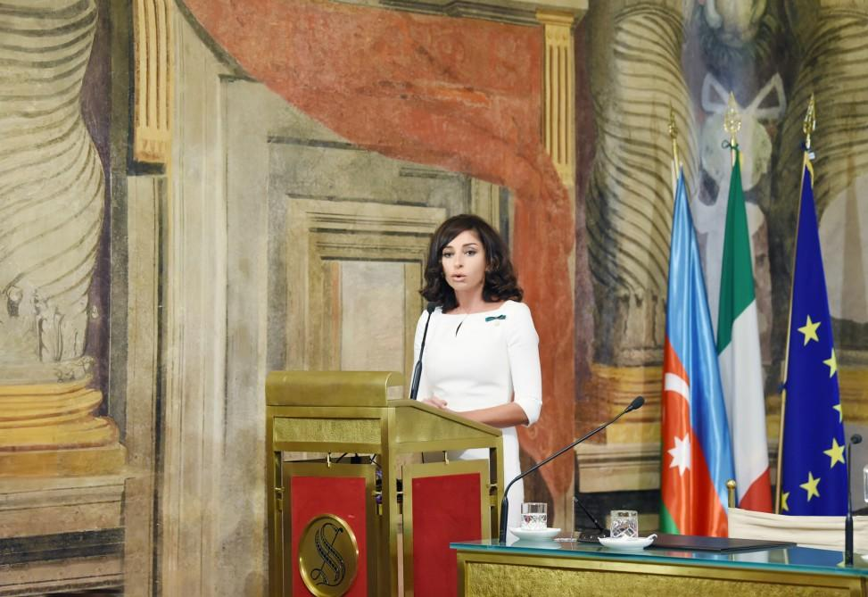 First VP Mehriban Aliyeva attends conference on centennial of ADR and relations of strategic partnership between Azerbaijan, Italy (PHOTO)