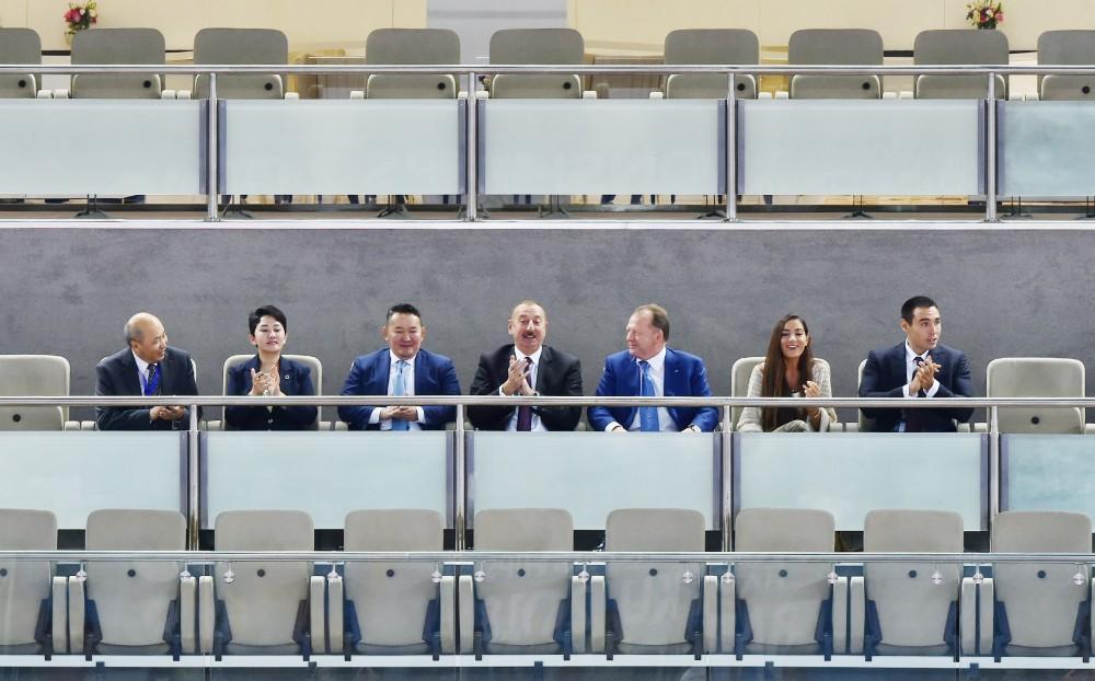 Президент Ильхам Алиев наблюдал соревнования Чемпионата мира по дзюдо (ФОТО)