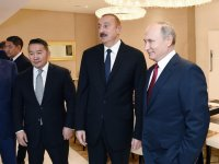 Azerbaijan's president, first VP, Russian, Mongolian presidents watch competitions at World Judo Championships (PHOTO) - Gallery Thumbnail
