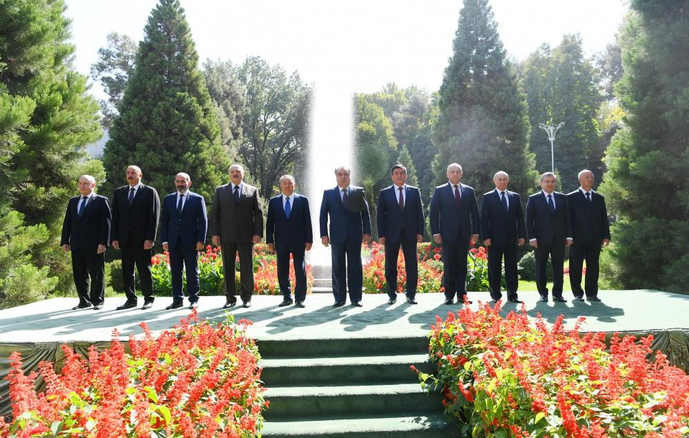 President Aliyev attends CIS Heads of State Council session in Dushanbe (PHOTO) - Gallery Image