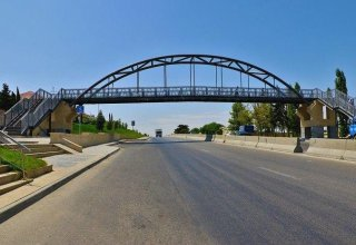 Pedestrian bridge being constructed in Uzbekistan's Navoi city