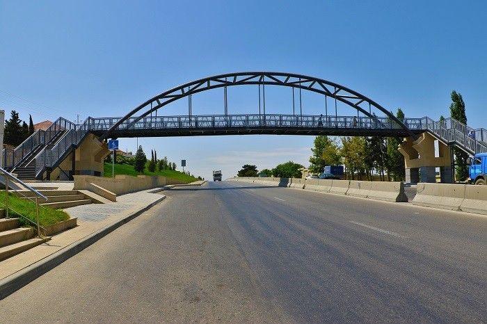 Pedestrian bridge being constructed in Uzbekistan's Navoi city
