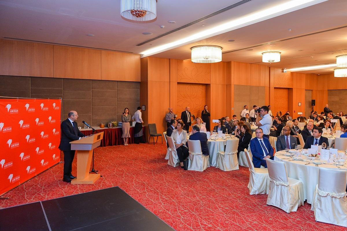 Minister of Energy of Azerbaijan Parviz Shahbazov meets with members of AmCham (PHOTO) - Gallery Image