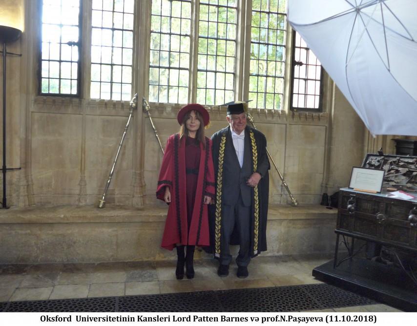 Professor Nargiz Pashayeva admitted as permanent member of Chancellor's Court of Benefactors of University of Oxford (PHOTO)