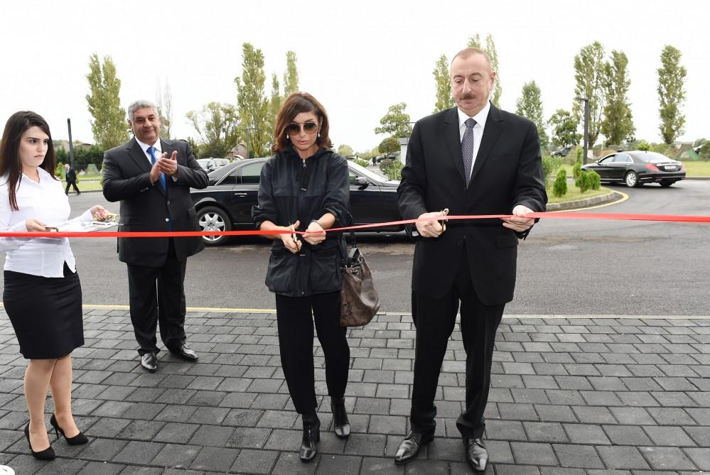Azerbaijani president, first lady attend inauguration of Lankaran Olympic Sport Complex (PHOTO) - Gallery Image