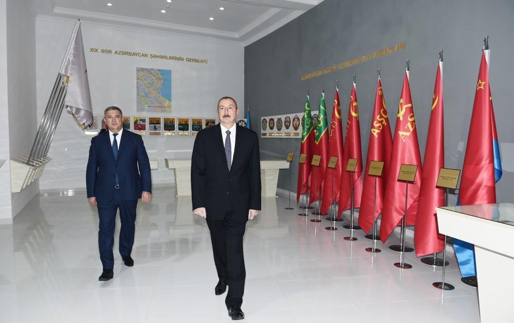 President Ilham Aliyev inaugurates Flag Museum in Lerik (PHOTO)