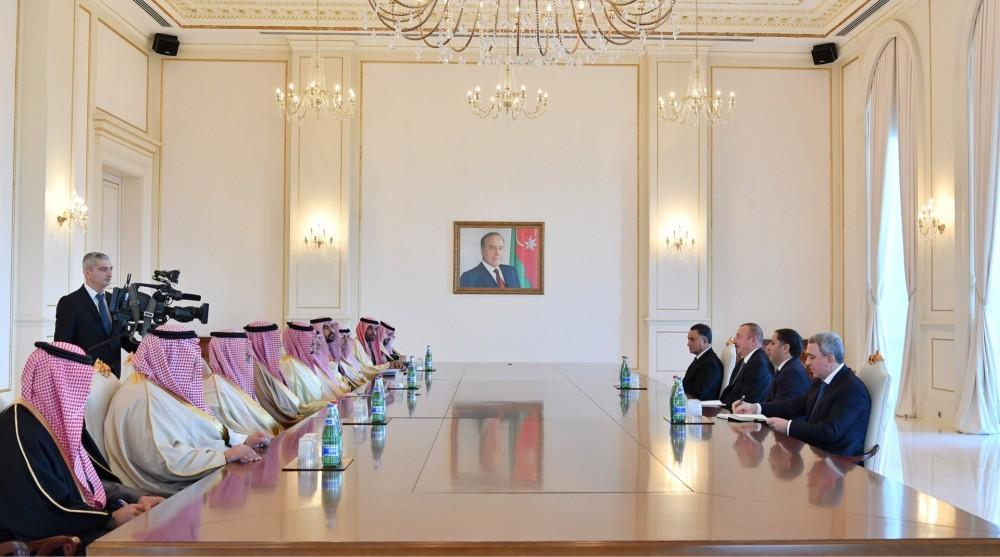 President Aliyev receives delegation led by Saudi Arabian interior minister