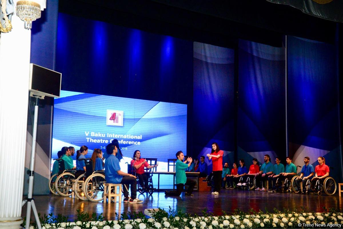 В Баку проходит V международная театральная конференция (ФОТО) - Gallery Image