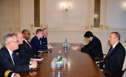 President Ilham Aliyev receives delegation led by commander of U.S. Transportation Command (PHOTO) - Gallery Thumbnail