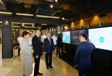 Azerbaijani president, first lady inaugurate administrative building of E-Government Development Center (PHOTO) - Gallery Thumbnail