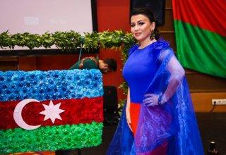 Фатима Фаталиева представила проект, посвященный Дню Государственного флага (ФОТО/ВИДЕО)