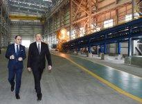 Azərbaycan Prezidenti Sumqayıt Kimya Sənaye Parkında əlvan metallar və ferroərintilər zavodunun açılışında iştirak edib (FOTO) (YENİLƏNİB) - Gallery Thumbnail