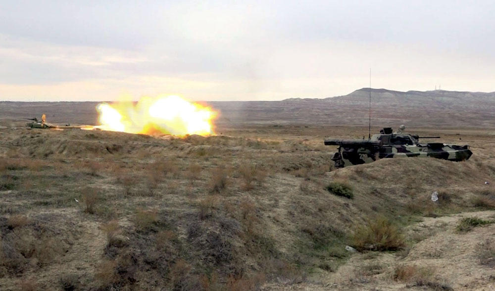 Armenian 'Uragan' multiple launch rocket system destroyed