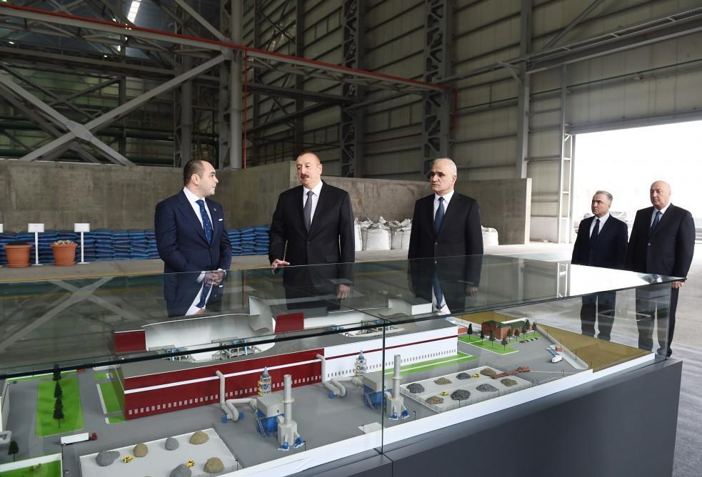 Azərbaycan Prezidenti Sumqayıt Kimya Sənaye Parkında əlvan metallar və ferroərintilər zavodunun açılışında iştirak edib (FOTO) (YENİLƏNİB) - Gallery Image