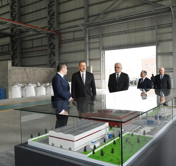 Azerbaijani president opens non-ferrous metals and foundry plant in Sumgait (PHOTO) - Gallery Image