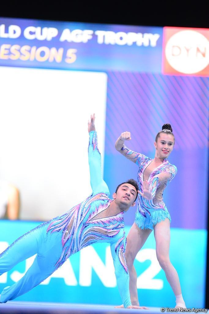 Лучшие моменты первого дня Кубка мира по акробатической гимнастике в Баку  (ФОТОРЕПОРТАЖ) - Gallery Image