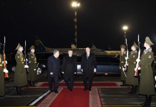 President Aliyev completes official visit to Belarus (PHOTO)