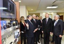 President Ilham Aliyev observes Azerbaijan's trading house in Minsk (PHOTO) - Gallery Thumbnail
