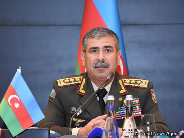 Azerbaijani defense minister: Armenian armed forces retreating suffering big losses