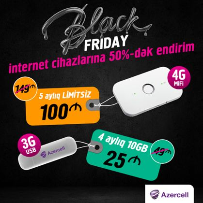 Amazing discounts on Black Friday from Azercell! (PHOTO) - Gallery Image